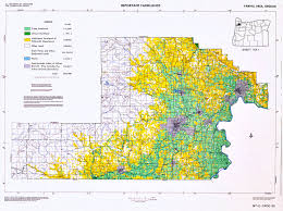 Oregon County Map by Yamhill Area Land Use Map