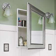 Bathroom Medicine Cabinet With Mirror Recessed Wood Medicine Cabinet House Decorations