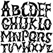 imagenes goticas letras alfabeto antiguo letras góticas fuente dibujada mano del vintage