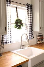 Kitchen Curtains Sets Kitchen Black And White Plaid Kitchen Curtains Cafe Curtains