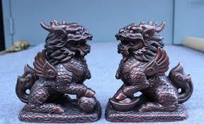 foo dog lion free shipping china feng shur bronze evil foo dog lion