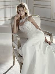 prospera mermaid wedding dress with bateau neckline and illusions