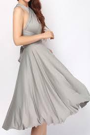 grey short infinity dress convertible dress bridesmaid dress st