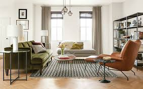 Reese Sofa Room And Board Check Out This Light Space With Tan Leather Chairs And Green