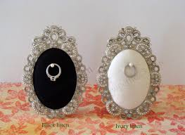 Wedding Ring Holder by Wedding Ring Holder Oval Diamond Frame Engagement Ring Holder