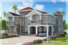 Luxury Home Floor Plans by Bedroom Double Floor Indian Luxury Home Design Kerala Home Design