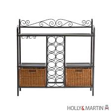 Bakers Rack Shelves Holly U0026 Martin Petaluma Baker U0027s Rack With Wine Storage 59 195 006 5 16
