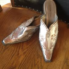 womens boots in size 9 slip on size 9 silver gold boot slip on shoes newport