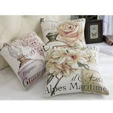 Country Style Sofa by Perfume Flowers Throw Pillows For Couch American Country Style