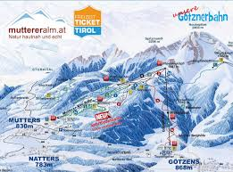 Europe Mountains Map by Skiing U0026 Snowboarding Innsbruck Innsbruck Ski Lifts Terrain