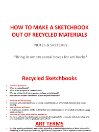 sketchbooks ppt pdf communication design art media