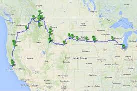 trip map 72 day national park road trip route and map belinda s