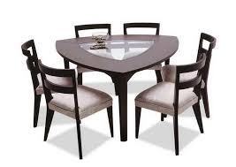 shaped dining table exquisite decoration triangle dining table peachy design triangle