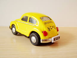 volkswagen yellow car vehicle retro vintage yellow beetle car collectible retro miniature