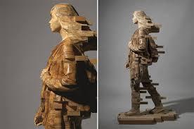 wood sculptures brilliant pixelated wood sculptures by artist hsu tung han