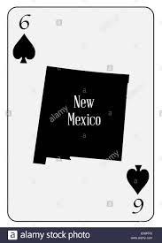 State Map Of New Mexico by Outline Map Of The State Of New Mexico And Used As The 6 Of Spades