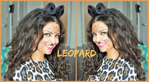 leopard halloween makeup ideas easy leopard halloween costume hairstyle youtube