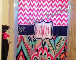 Monogram Shower Curtains Monogrammed Shower Curtain Etsy