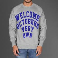 welcome octobers very own sweatshirt ovo as worn by drake