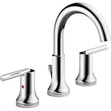 shop delta trinsic chrome 2 handle widespread watersense bathroom
