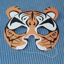 masque tigre pour se déguiser masque sur tête à modeler