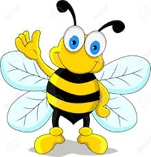 bees clipart cartoon character pencil and in color bees clipart