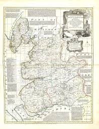 Lancashire England Map by England U0026 Wales Emanuel Bowen 1756 A 1 54 U2013 L Brown Collection