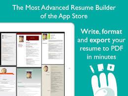 Resume Designer App Resume Designer Pro Produce Elegant Resumes On The App Store