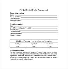 renting a photo booth sle booth rental agreement 7 documents in pdf word