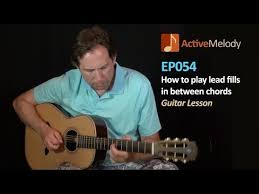 how to play lead fills between chords guitar lesson filler