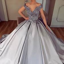 light gray formal dresses arabic charming light grey evening gowns beaded appliques off