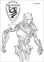 general grievous coloring pages hellokids