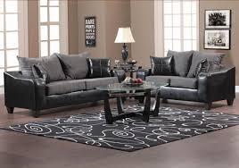 Modern Sofa And Loveseat Black Vinyl And Grey Fabric Modern Sofa Loveseat Set W Options