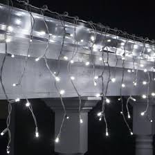 twinkling white led icicle lights 70 5mm led icicle lights cool white twinkle white wire yard envy