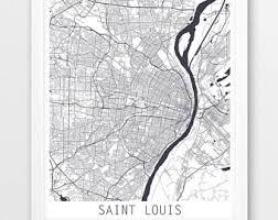 map st louis map of st louis etsy