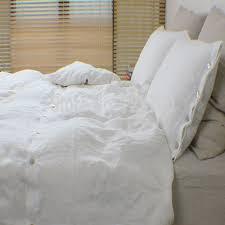 White Linen Duvet Linen Duvet Cover King Linen Duvet Cover Queen Ruched Duvet Cover