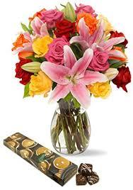 flowers and chocolate flowers and chocolate