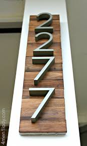new house numbers project and a giveaway 4 men 1 lady diy