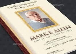 legacy funeral service program template inspiks market