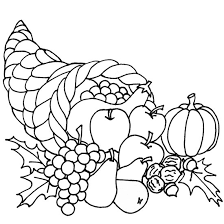 thanksgiving coloring pages fruit print coloringstar
