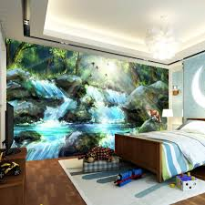 painted wall murals nature home interior