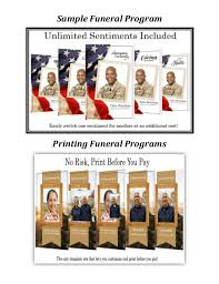 Funeral Program Printing Services Zachary Douglass Llc Funeral Service Program Template