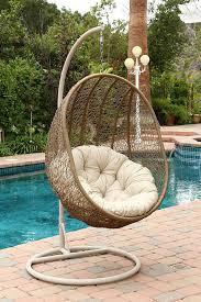 Outdoor Wicker Egg Chair Amazon Com Abbyson Hampton Outdoor Wicker Swing Chair Light