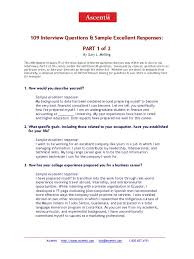 5 109 interview questions and answers part 1 of 2 goal