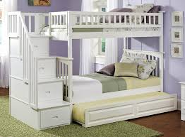 White Bunk Bed With Trundle Safety Bunk Beds With Stairs And Trundle Modern Bunk Beds Design