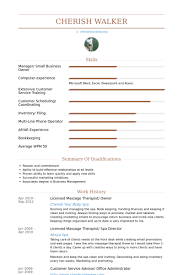 Sample Resume With Work Experience by Massage Therapist Resume Samples Visualcv Resume Samples Database