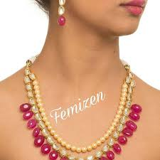 ruby beads necklace images High quality kundan and semi precious ruby beads necklace set happ jpeg