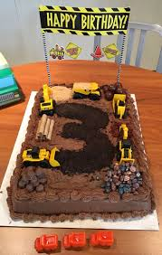 How To Decorate A Birthday Cake At Home Best 25 Construction Birthday Cakes Ideas On Pinterest Digger