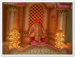 hindu decorations for home ganpati decoration makhar home decorating ideas pictures concepts