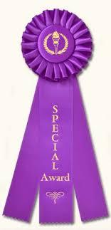 purple ribbons classic three streamer rosette award ribbons traditional designs